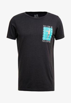 T-Shirt print - black grey