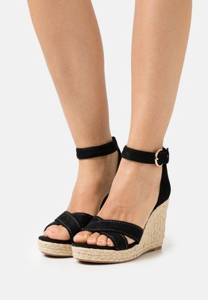 ONLAMELIA LIFE STITCH  - Platform sandals - black