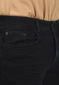Solid - Denim shorts - black dnm - 3