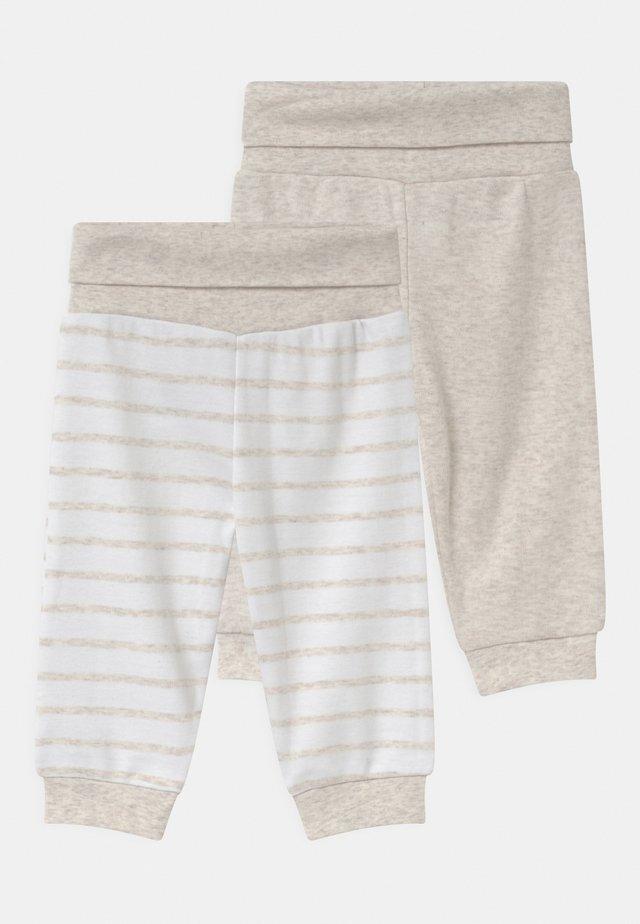 2 PACK UNISEX - Kalhoty - white/beige