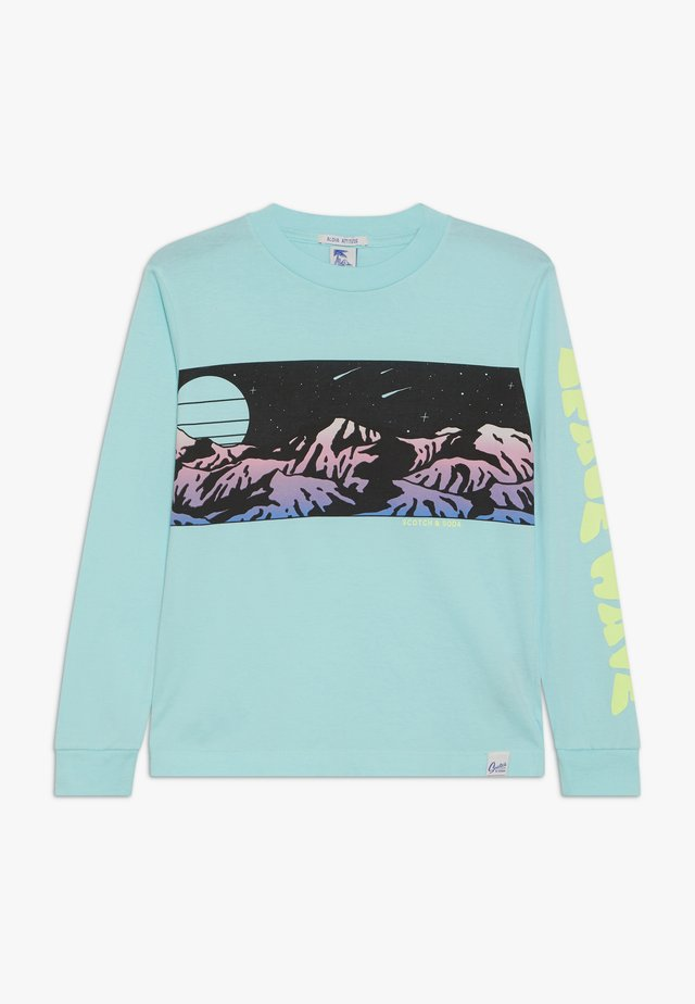 LONG SLEEVE WITH PLACED ARTWORKS - Bluzka z długim rękawem - surf