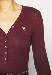 Abercrombie & Fitch - COZY HENLEY  - Long sleeved top - burgundy - 6
