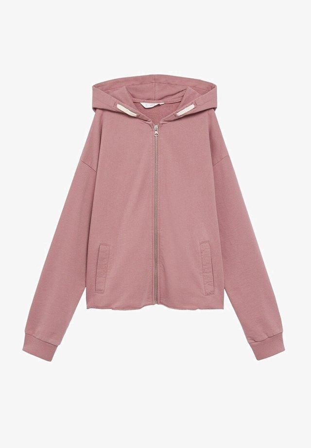 ANDIE - Zip-up hoodie - rose pâle