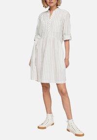 Q/S designed by - Day dress - beige stripes - 5