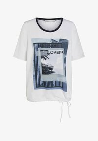 Oui - Print T-shirt - optic white - 5