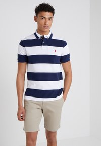 Polo Ralph Lauren - SLIM FIT - Polo shirt - white/newport navy - 0