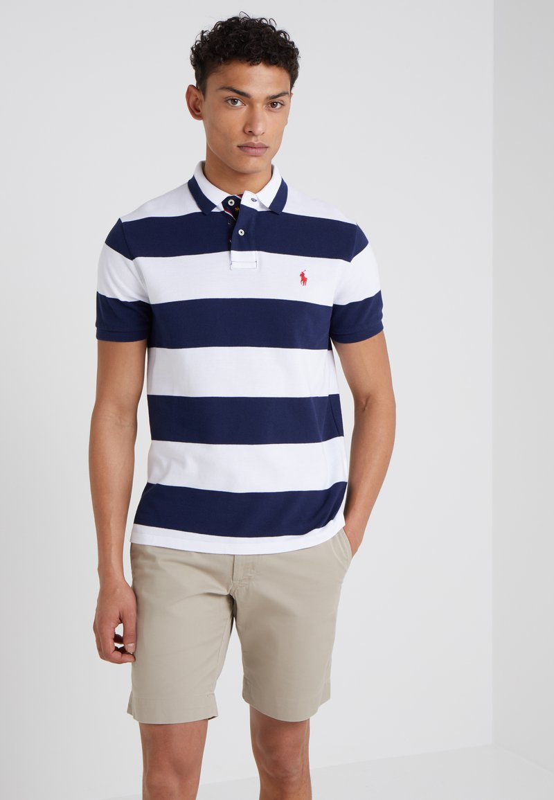 Polo Ralph Lauren - SLIM FIT - Polo shirt - white/newport navy
