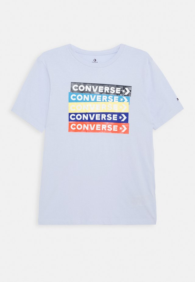 COLOURBLOCKED LOGO TEE - Print T-shirt - porpoise
