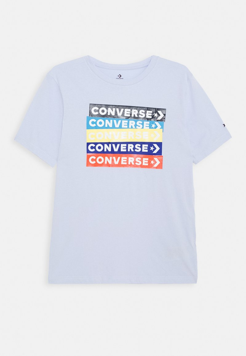 Converse - COLOURBLOCKED LOGO TEE - T-shirt con stampa - porpoise