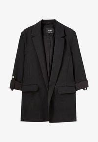 PULL&BEAR - Halflange jas - black - 4