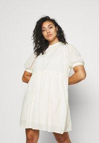 Vero Moda Curve - VMASTA 2/4 DRESS  - Day dress - birch - 0