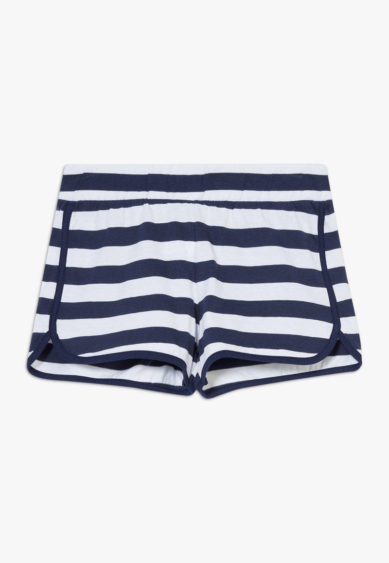 Benetton - Shorts - dark blue/white