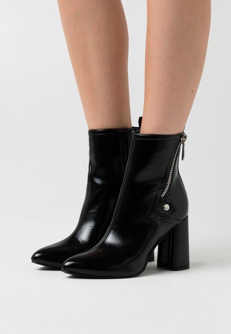 ONLY SHOES - ONLBRODIE ZIP BOOT  - Støvletter - black