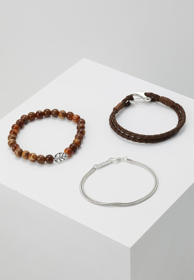 STREET SAFARI COMBO 3 PACK - Pulsera - brown