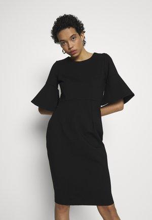 PENCIL DRESS WITH SPLIT CUFF - Vestito estivo - black