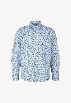 Chemise - white base blue shades design