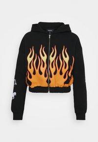 NEW girl ORDER - SPEED DEMON ZIP UP HOODIE - Zip-up sweatshirt - black - 4