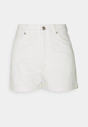 ABARNA - Denim shorts - broken white