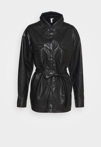 Nly by Nelly - BELTED - Button-down blouse - black - 0