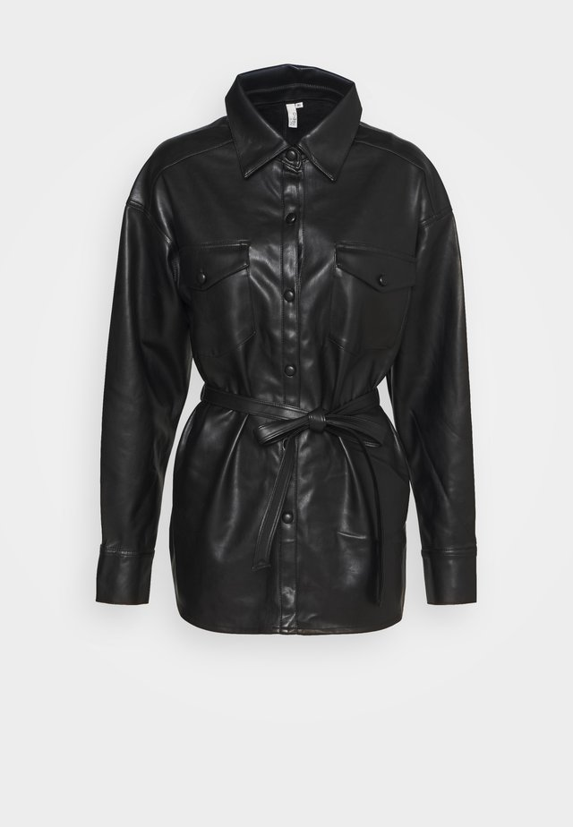 BELTED - Camicia - black