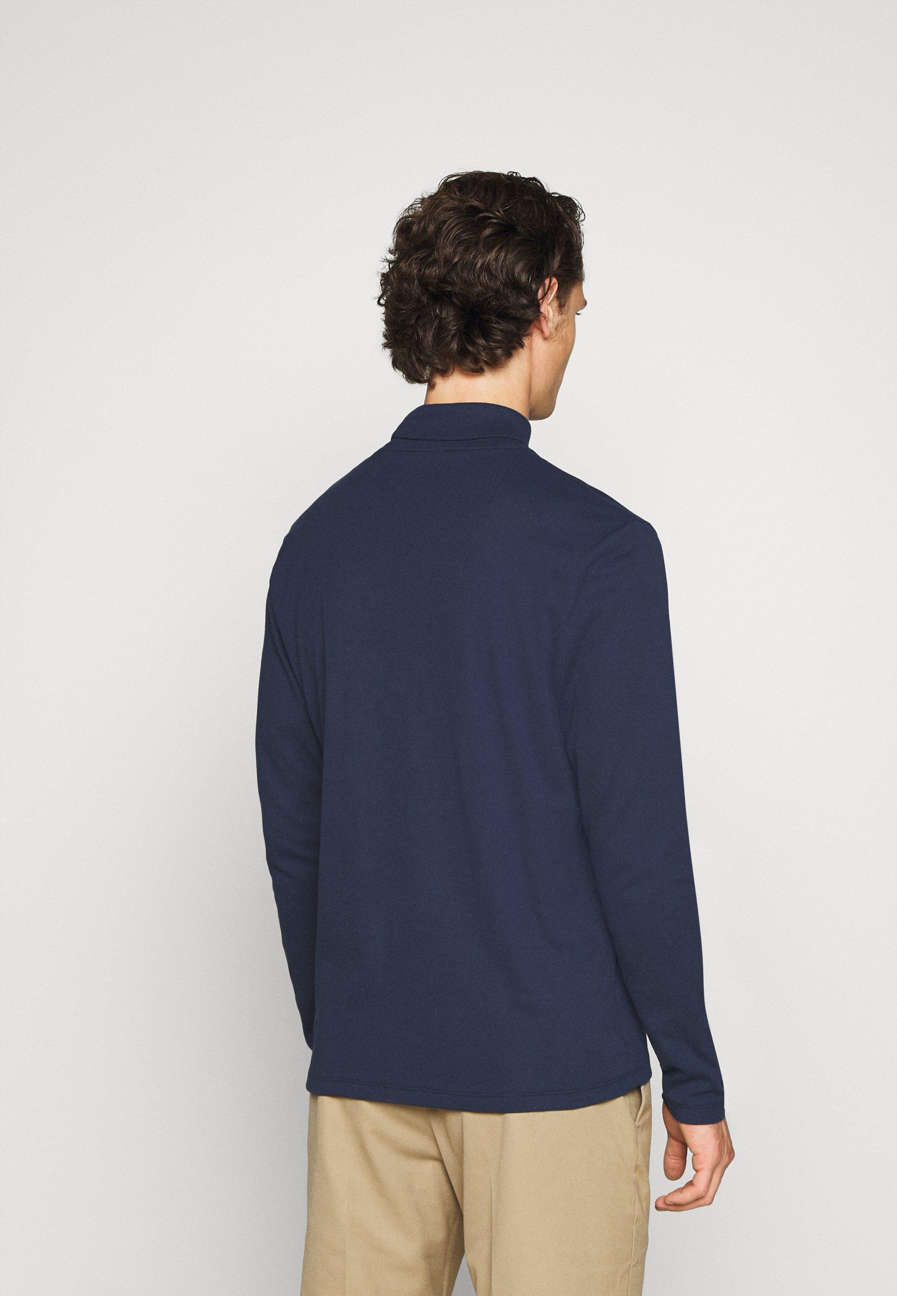 Jack & Jones PREMIUM JPRBLARAY ROLL NECK - Long sleeved top - navy blazer xdvEE