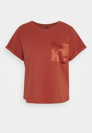 ONYCARNA LIFE POCKET TOP  - Basic T-shirt - red ochre