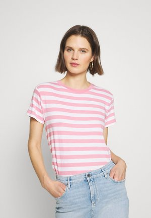 SHORT SLEEVE ROUND NECK - Camiseta estampada - sunlit coral