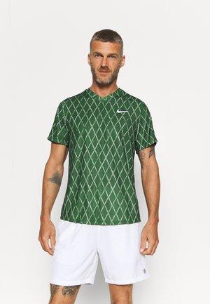 T-shirts print - gorge green/white