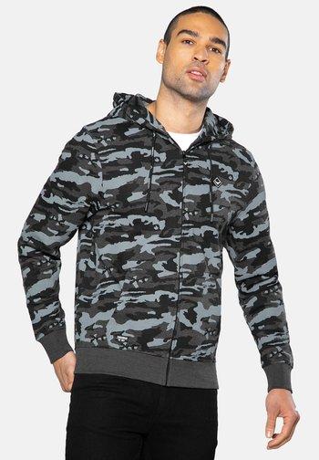Zip-up sweatshirt - charcoal camo