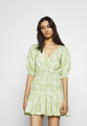 WINDSWEPT MINI DRESS - Day dress - green