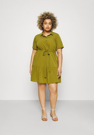 UTILITY SHIRT DRESS - Blousejurk - khaki