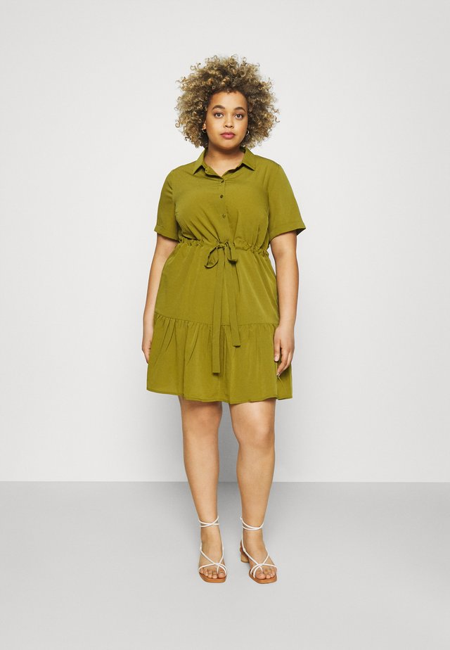 UTILITY SHIRT DRESS - Vestido camisero - khaki