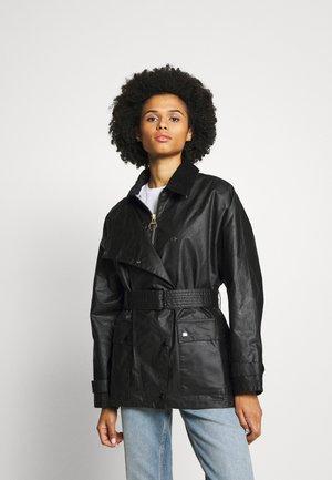 ALEXA CHUNG X BARBOUR AGATHA WAX - Short coat - black/northumberland
