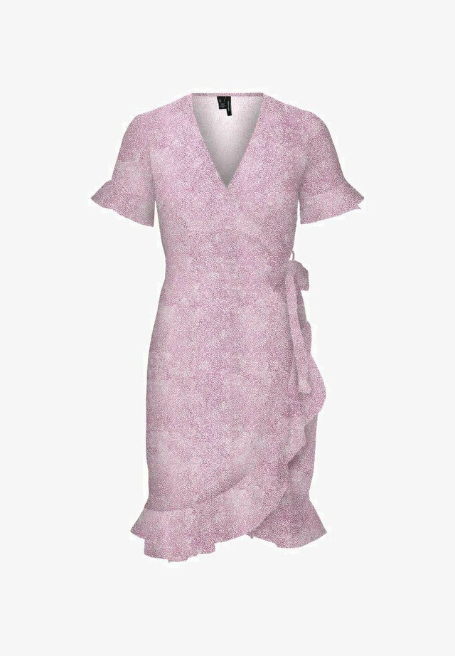 Korte jurk - smoky grape