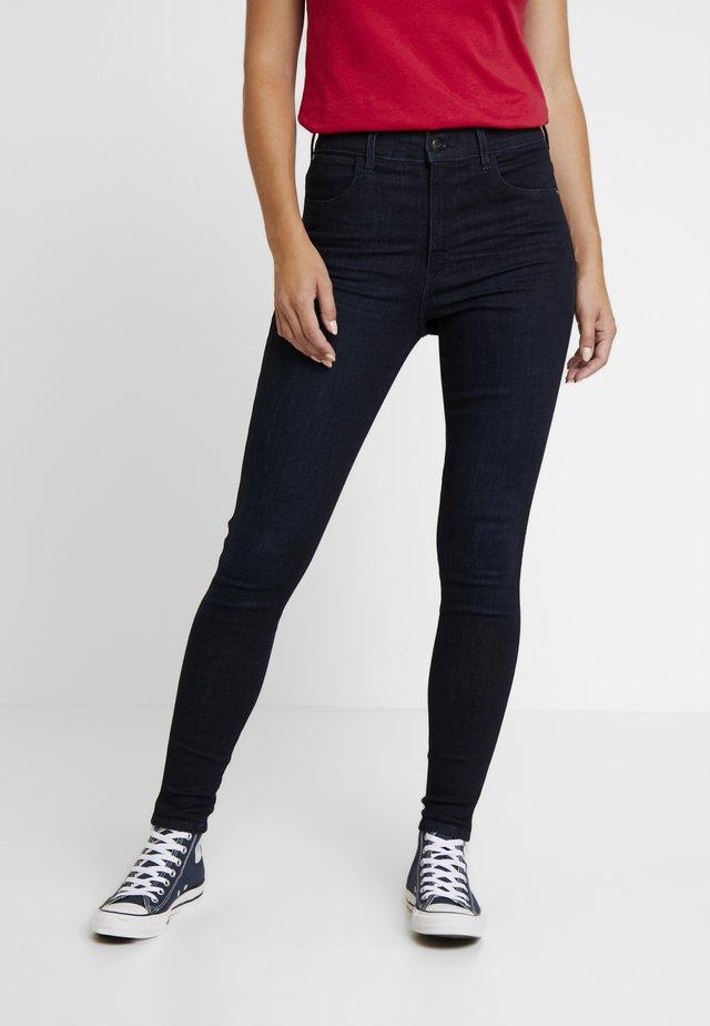 HIGH RISE - Skinny-Farkut - blue black