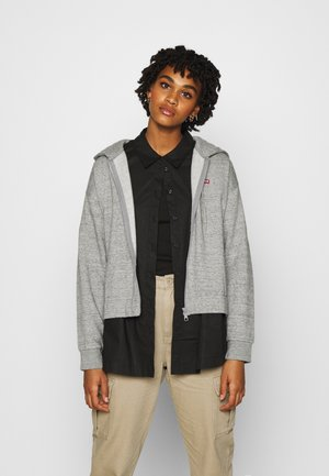 ZIP SKATE HOODIE - veste en sweat zippée - smokestack heather
