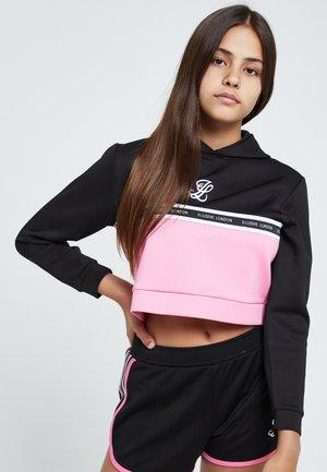 Hoodie - black & pink