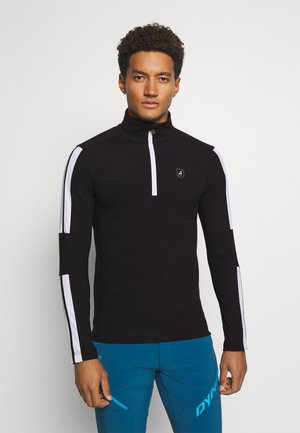 EAMES - Fleece jumper - black/bright white