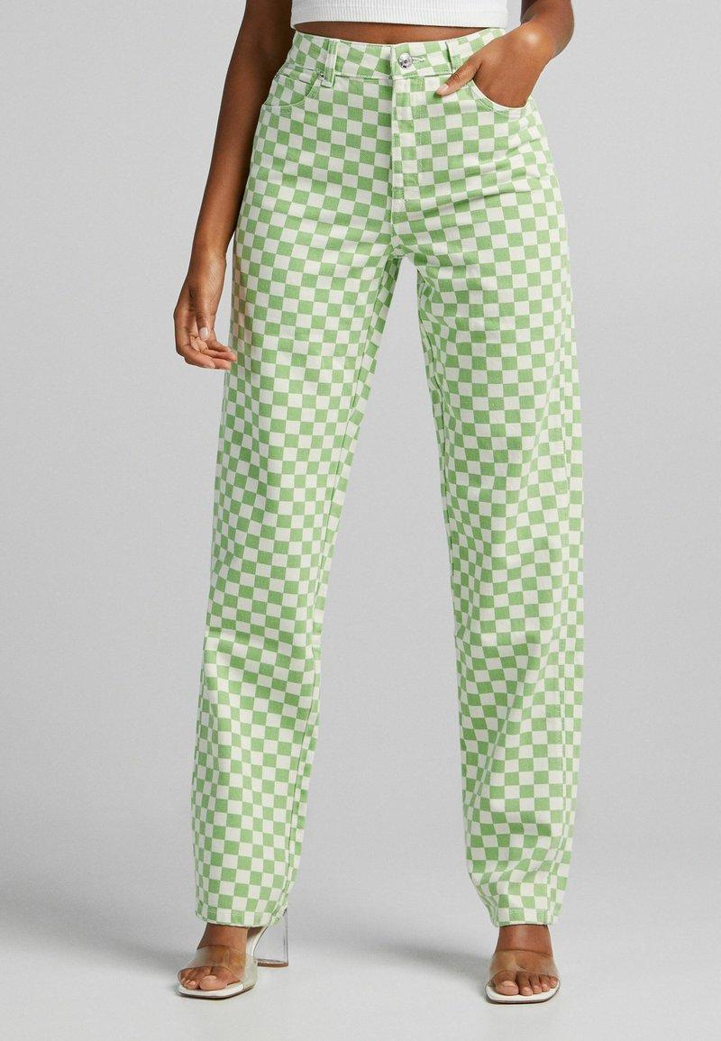 Bershka - Straight leg jeans - green