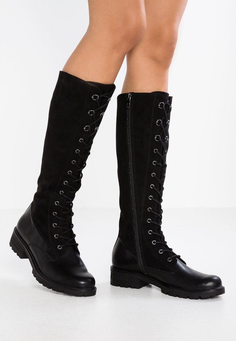 Tamaris - Lace-up boots - black