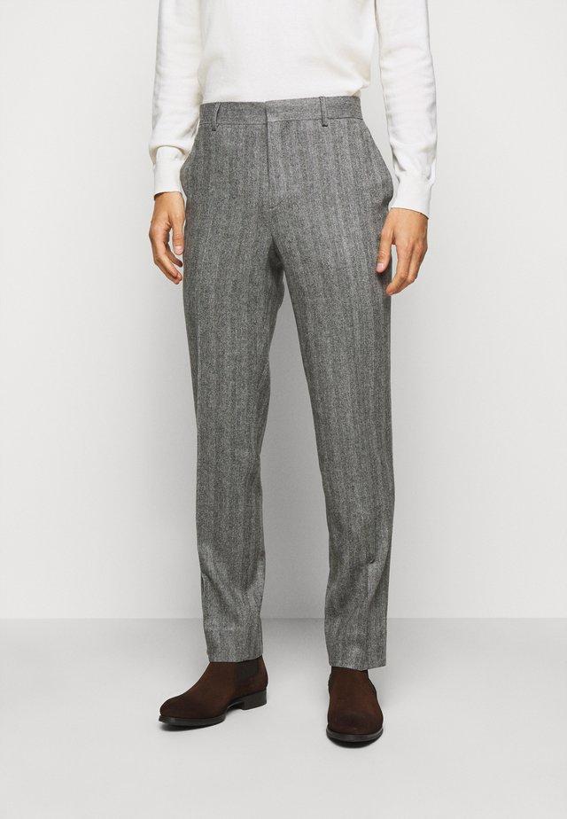 LEO HERRINGBONE  - Pantalon - black