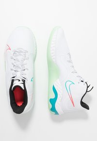Nike Performance - RENEW ELEVATE - Koripallokengät - white/black/flash crimson/oracle aqua/vapor green - 1