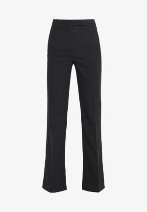 STRUCTURED PANT - Stoffhose - black