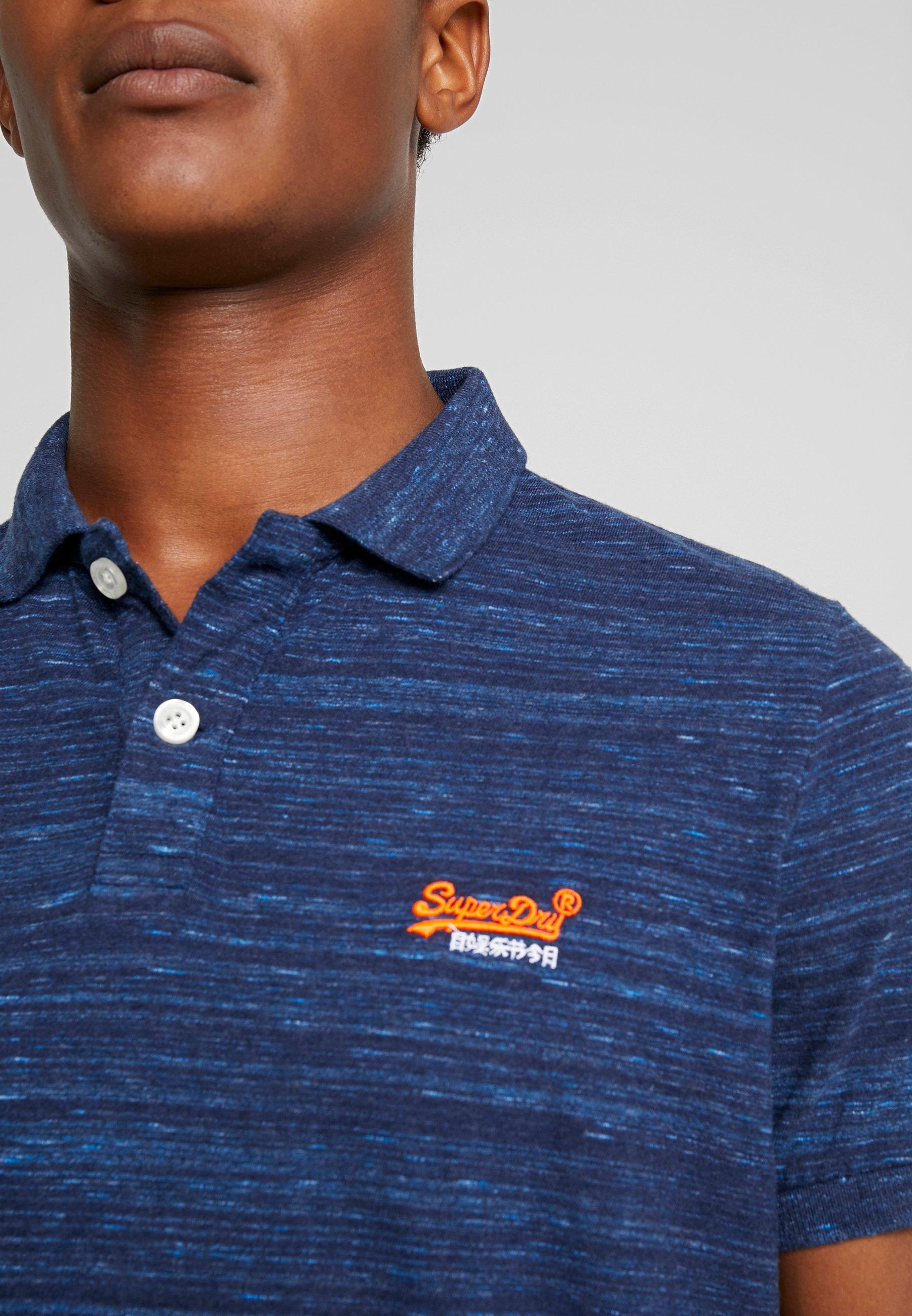 Superdry LABEL  - Polo shirt - navy fleck mZvVC
