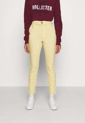 PLAID - Bukse - yellow