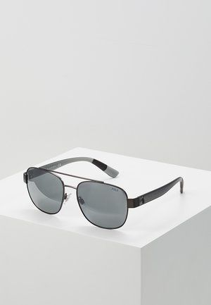 Sunglasses - semishiny dark gunmetal/silvercoloured mirror