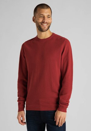 BASIC TEXTURED  - Pullover - red ochre