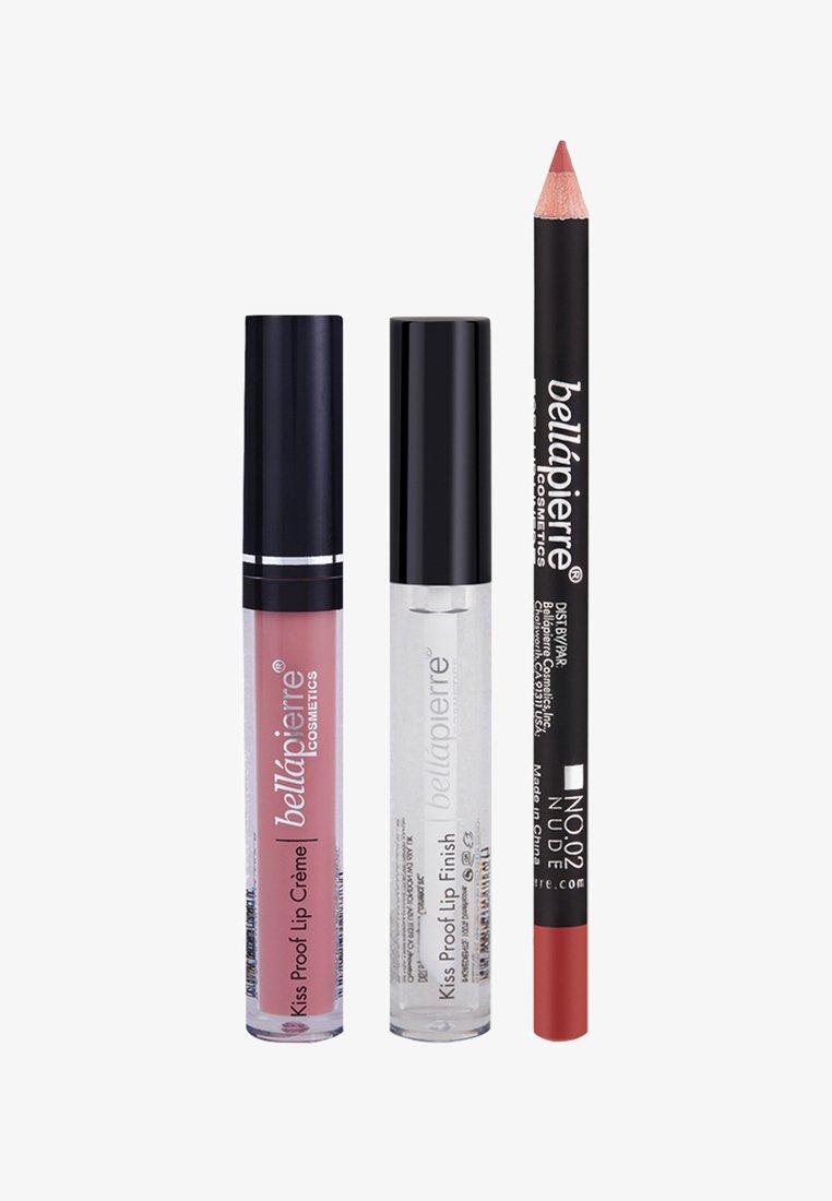 bellápierre - KISS PROOF SLAY KIT - Palette pour les lèvres - nude