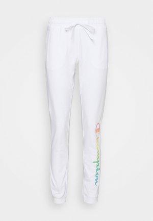 RIB CUFF PANTS - Joggebukse - white