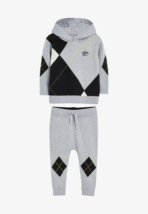 ARGYLE PATTERN SET - Tracksuit - grey